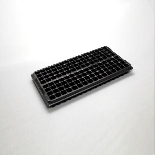 128 cell square with rib D | plug tray, seedling tray, 128 cell tray, seedling box, seedling, seeds, agriculture, harvest, 128 cell