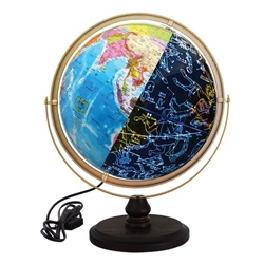 SEOJEON GLOBE Brilliant LED Constellations Globe Wooden base World map Star New