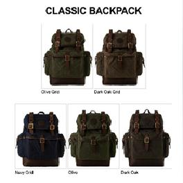 Korea Classic Backpack Genuine Leather Men Studentss Laptop Outdoor