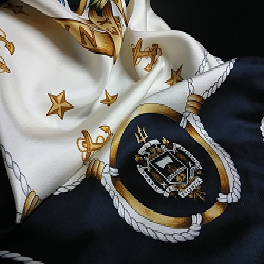 Institutional wear / US Naval Academy / Silk Twill Square Scarf
