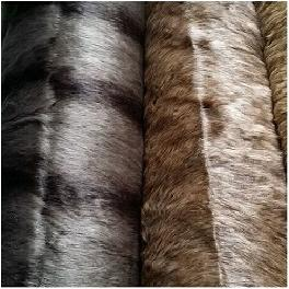 Stocklot Fabric Hi Pile Nature Color Fur