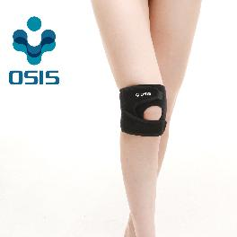 OSIS OSK-02A [Adjustable Knee Support] Neoprene Knee support Sports soft brace with Velcro Black