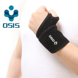 OSIS OSR-02A [Wrap Around Wrist Support] Neoprene Wrist Support Sports Soft brace with Velcro Black