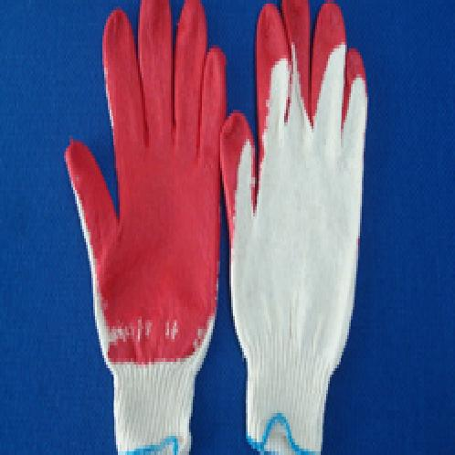 Red latex half coated gloves | red Latex  half coating Glove, Cotton Knit Glove, Latex coated gloves