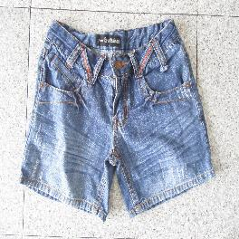 Adult's Blue Jean Short Pants, Used Clothing