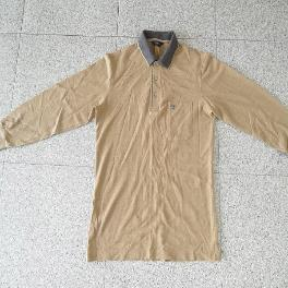 Men's Long Sleeve 3-Button Polo T-Shirts, Used Clothing