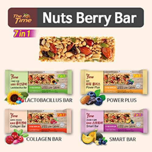 [The time]★nuts berry bar★Energy bars / Lactobacillus Bar / power plus / Collagen Bar / Smart Bar /  | Energy bars, Lactobacillus Bar, power plus,Collagen Bar,Smart ,  Almond, Family food , Korea