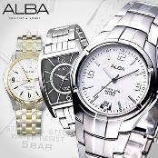 [SEIKO ALBA] Accurate Reliable Legible and Comfortable to Wear Genuine Mens Metal Watches Modern Sim