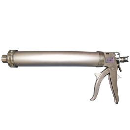 Urethane inhalation caulking gun