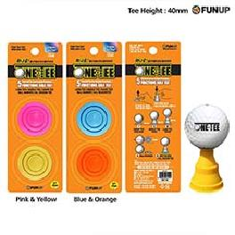 [FUNUP] ONE TEE 5 Functions Golf Tee 40mm / 48mm - 2 Colors Set