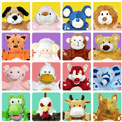 Hand puppet 16 in 1 set