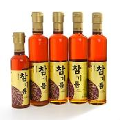 Seung-In Food Sesame Oil Set 300ml x 4ea, 180ml x 1ea 100% whole Sesame Korea