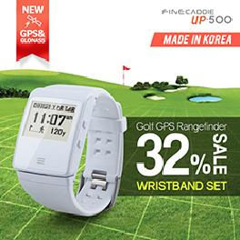★Finecaddie UP505 with Wristband(White)★ Golf GPS Rangefinder/ Golf GPS watch/Golf GPS/Handheld GPS/