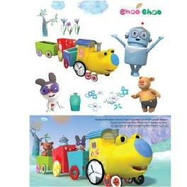 2B_1Korea Animation Choo Choo Train Wall decor