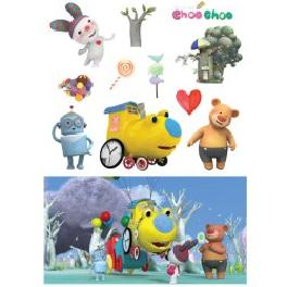1B_1Korea Animation Choo Choo Train Wall decor