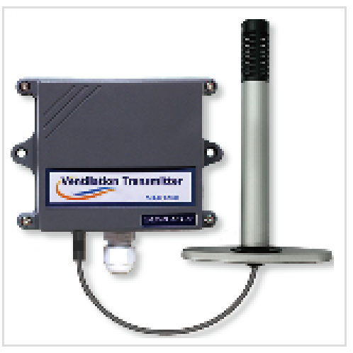 Duct type CO2 Temperture Humidity transmitter | Ventilation, ventilation measurement, building ventilation, building co2, duct air quality