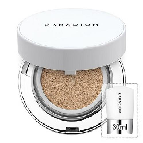 KARADIUM Real Cushion Foundation 15g & Refill 30ml (No. 21 & 23) | Air cushion, Korea cosmetics, BB cushion, foundation cushion, Korean makeup