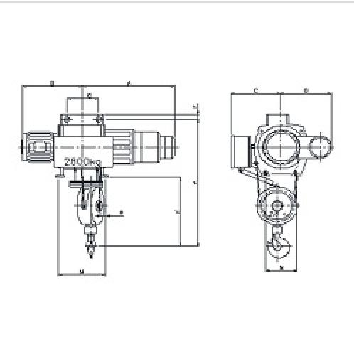 CREEP SUSPENSION TYPE HOIST | Wire rope, Electric wire rope, CREEP SUSPENSION TYPE HOIST