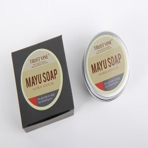 Mayu Soap(Horse Oil) : Tin Case Bar (Living Perfume) | Mayu Natrual Soap Bar, Mayu Soap(Horse Oil), Handcrafted Neutral Soap, Natural Horse oil
