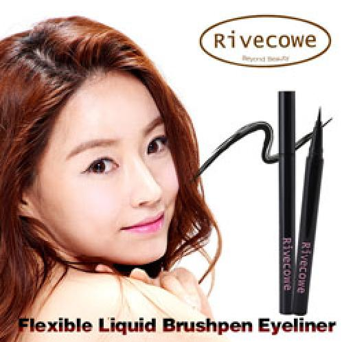 Rivecowe Flexible Liquid Brushpen Eyeliner | Rivecowe Flexible Liquid Brush pen Eyeliner, Too much strong performance, Possible to adjust to a wanted thickness