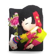HanSong-E Hanbok Dressed Character Silk Wallet Card Case 5types