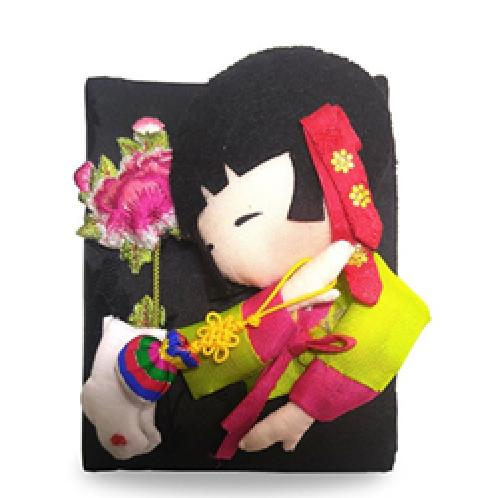HanSong-E Hanbok Dressed Character Silk Wallet Card Case 5types | Character Silk Wallet Card Case,wallet,traditional card case,korea traditional wallet,korea suvenir,korea character wallet