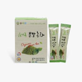 Natural powder of the highest quality domestic organic powderd green tea (1g x 20eas)