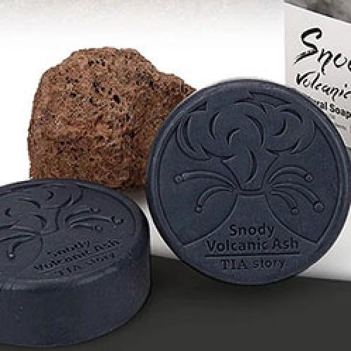Tiastory Snody Volcanic Ash Moisture Soap (two soaps&one soap holder) | Soap, face soap, cleaning soap, handmade soap