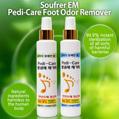 Soufrer EM Pedi-Care Foot Oder Remover | Soufrer EM Pedi-Care Foot Oder Remover, 99.9% instant sterilization of all sorts of harmful bacterias, Natural ingredients harmless to the human body, Peppermint