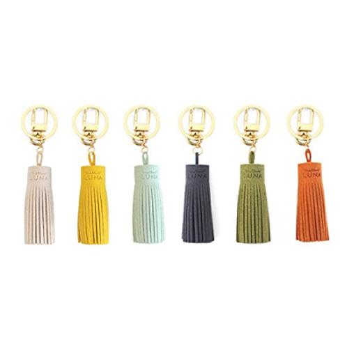 LUNA BUDDY KEY RING TASSLE FOR BAG, POUCH, CLUTCH (6 Colors) | fashion, fashion item, tassel, bag tassel, clutch tassel, pouch tassel, wallet tassel, key ring