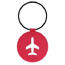 FENICE Round Airplane Tag in 6 colors (Pink)
