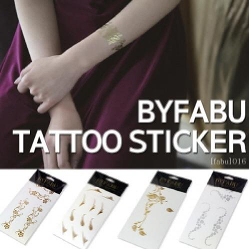 [fabu_012] 111mm (Gold / Silver Tattoo) | [BYFABU]★TATTOO STICKER★ Gold and silver Tattoo Stickers / Body Tattoo / Deco Stickers / Teo Sticker / Waterproof Tattoos / B2C16_2098