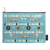 Mallang Luna Art Fabric Pouch - Fox Meets The Forest