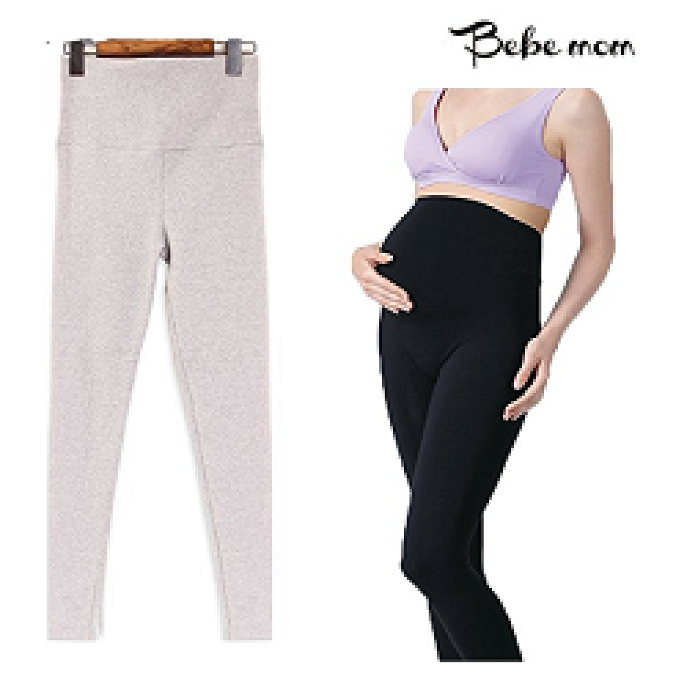 [Bebemom] Winter Warm Fleece Lined Maternity Belly Leggings, Ankle Length Pregnancy Seamless Tights,