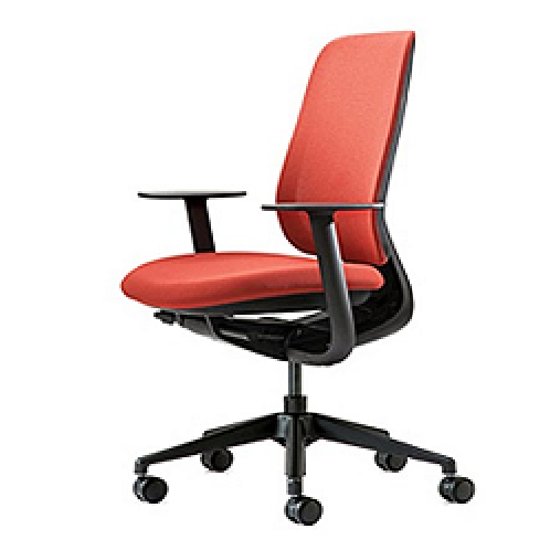 PATRA Office Chair with Red Mesh Back and Fabric Seat    | patra, office, chair, korean, mesh