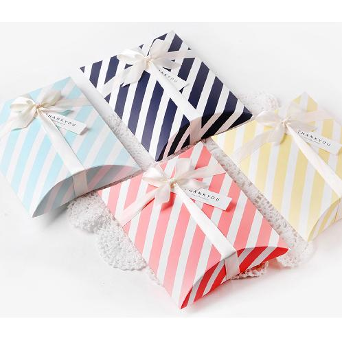 INDIGOSHOP Stripe Half Moon Gift Box Medium Size (5 Options) | stationery, gift wrapping supplies, gift boxes, present, household supplies