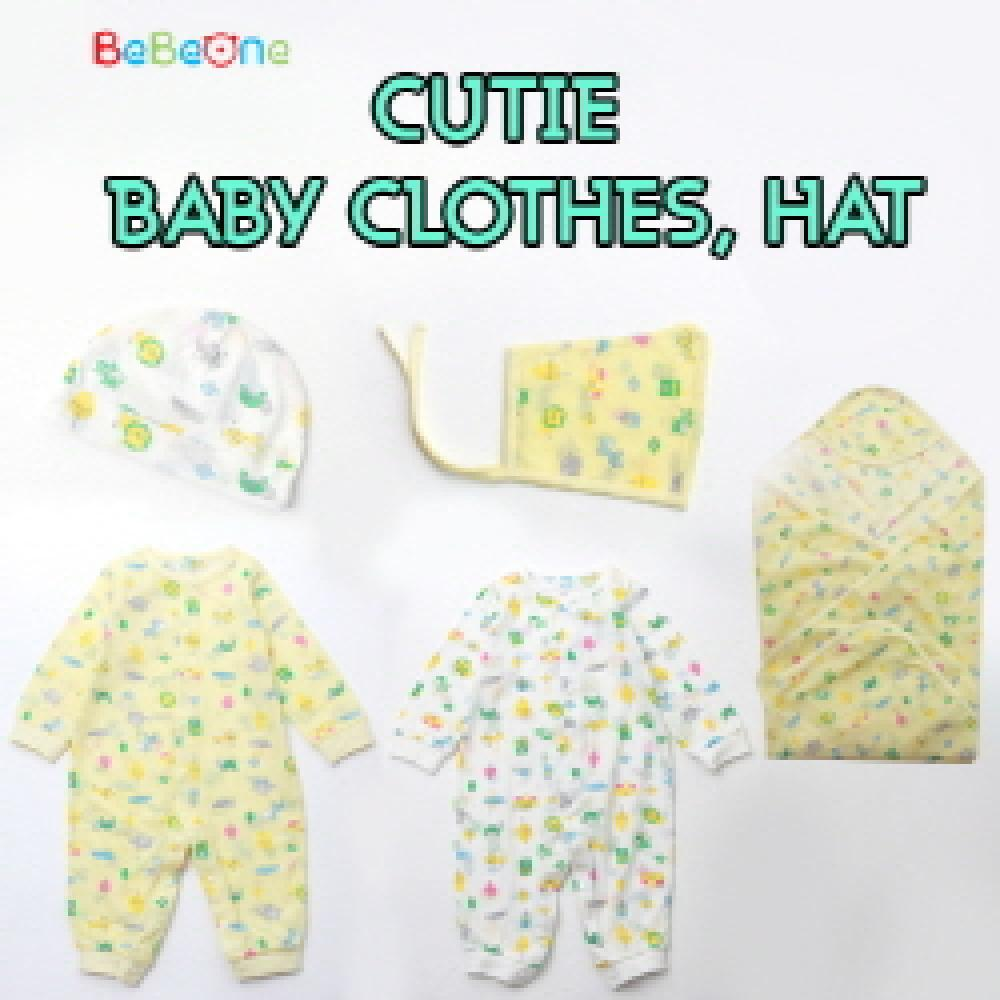 [Bebeone]★Cutie baby Clothes Hat ★NEW BORN BABY HAT SET WHITE / B2C16_2011