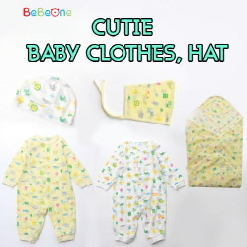 [Bebeone]★Cutie baby Clothes Hat ★NEW BORN BABY HAT SET WHITE / B2C16_2011 | [Bebeone]★Cutie baby Clothes Hat ★ baby clothes / sleep wear/ boys or girls pajamas / baby clothing / kids clothes / MADE IN KOREA / B2C16_2011