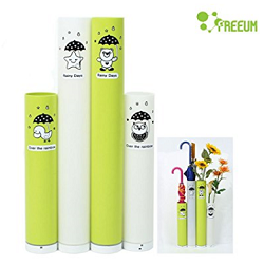 [FREEUM] 100% PP Eco-Friendly Umbrella Stand 4P Set, Home Interior, Easy to Move (Green & White)