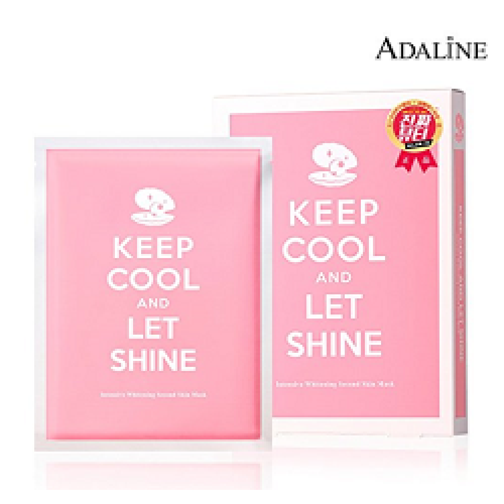 [ADALINE] Keep Cool And Let Shine Facial Mask Sheet 28g 10 Sheets, Intensive Whitening
