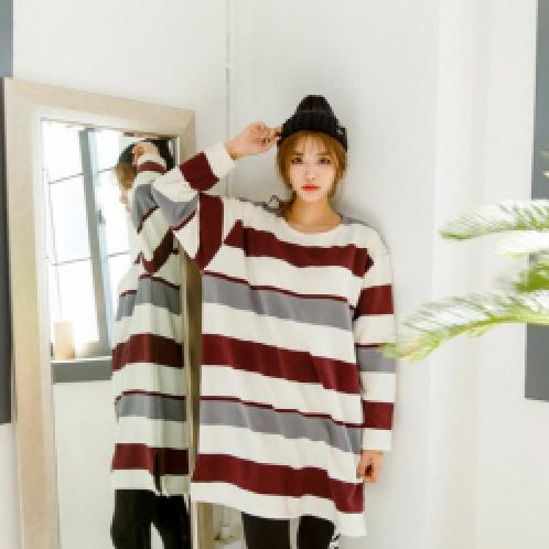 ★D-STRIPE LONG T(NAPPING)★ clothes | ★D-STRIPE LONG T(NAPPING)★ clothes, stripe, long, t-shirts, fashion, B2C16_2123