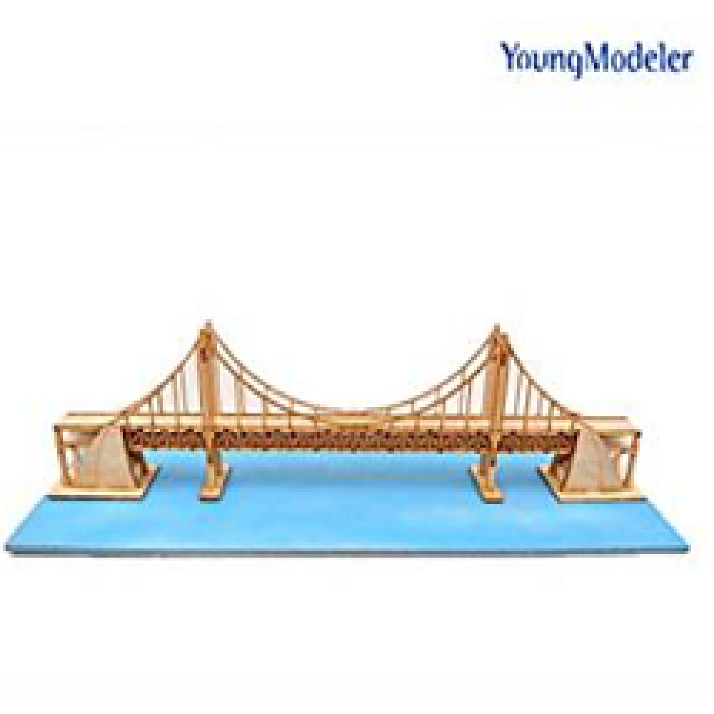 YOUNGMODELER DESKTOP Wooden Assembly Model Kits. (Wide Gwangandaegyo Bridge)