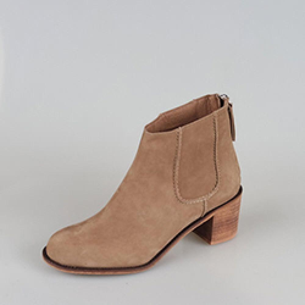 DORGAS isabel ankle, Cow nubuck, Taupe, Women shoes Boots, Size5.5-8.5