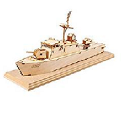 YOUNGMODELER DESKTOP Wooden Assembly Model Kits. (Sea Eagle High-Speed Boat)
