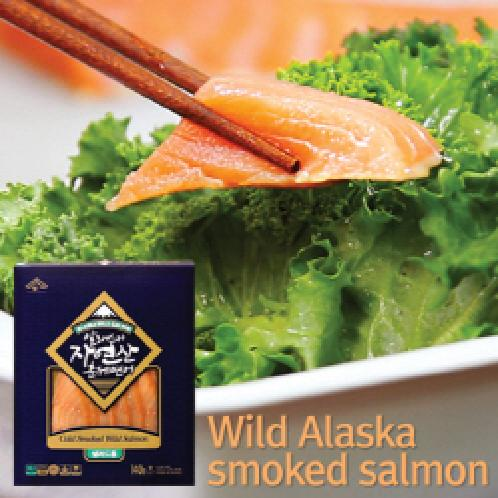 Wild Alaska smoked salmon 140g | Smoked salmon,Salad,Diet,Low-calorie,Clean,Full of nutrition,Eating,Natural,Republic of Korea,B2C16_2036