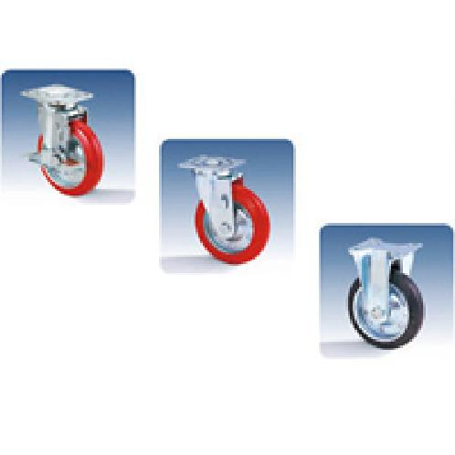 "Medium duty casters wheel factory warehouses diameter 6"" swivel rigid 