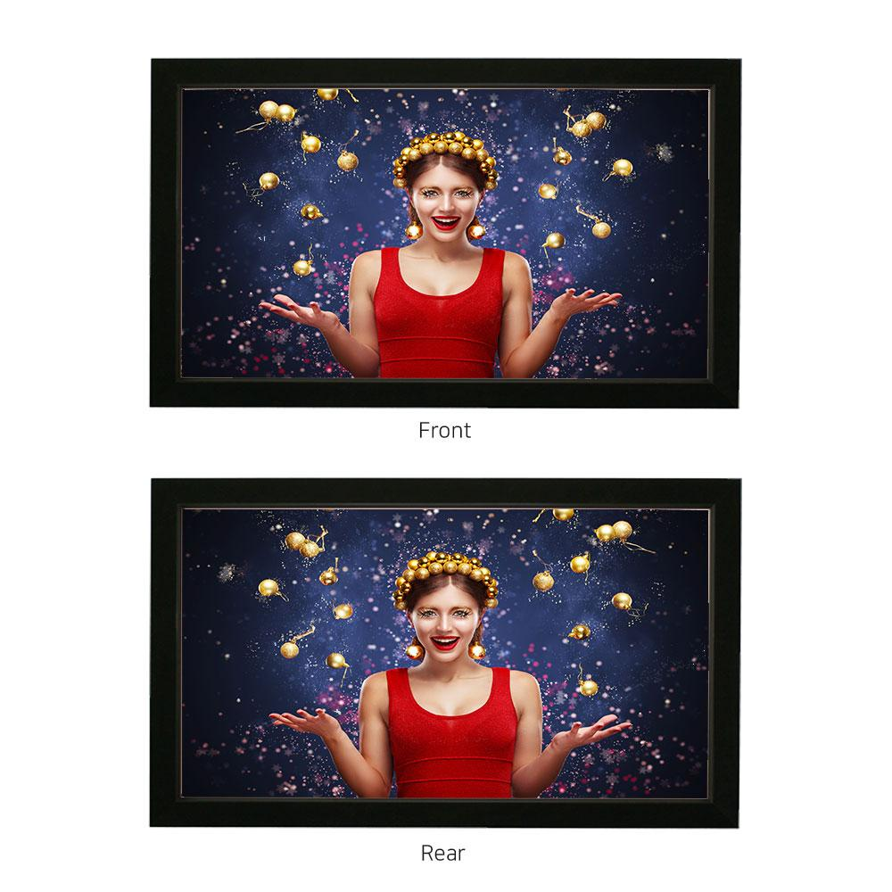 360 double sided projection screen DUPIC SCREEN (Fixed Screen with frame)