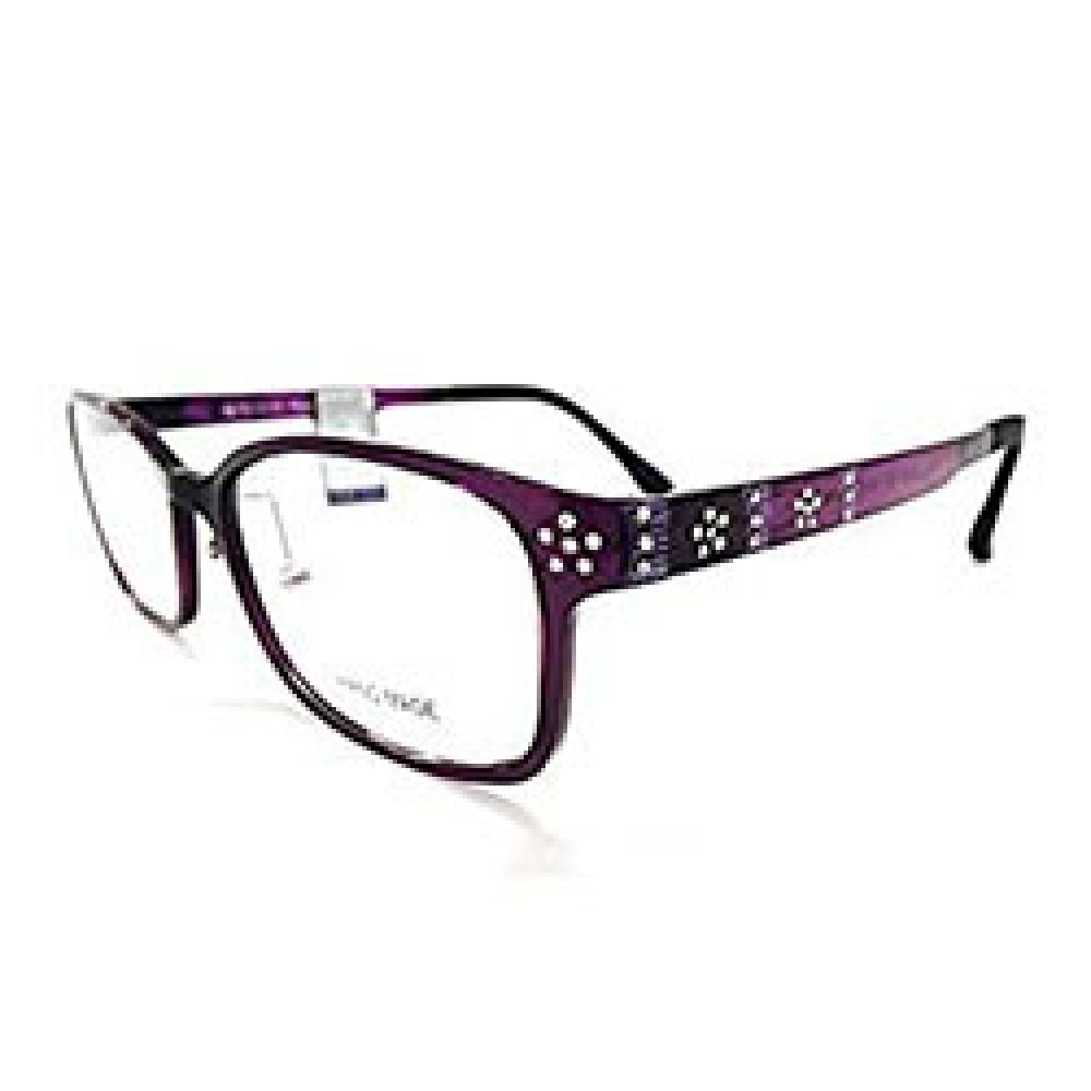 CAMIERRE Handmade Flexible Optical Eyeglasses Frame with Cubic Flowers,