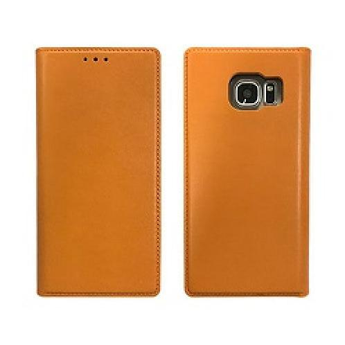 Genuine Cow Leather Tech, Stand Folio Case For Galaxy S7 - Elegance Camel Orange | Mobile, Mobile Accessory, Smartphone