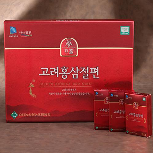 SLICED KOREAN RED GINSENG | Red ginseng slice, portable, anti-cancer effect